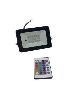 LED-Strahler für außen mit RGB 10W inkl. Fernbedienung wasserdicht IP66
