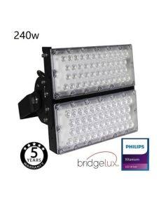 LED Flutlicht/Stadionbeleuchtung Bridgelux Chip - 240W 240Lm/W - 40º