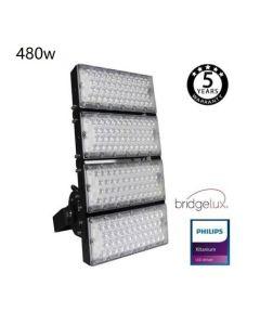 LED Flutlicht/Stadionbeleuchtung Bridgelux Chip - 480W  240Lm/W - 40º