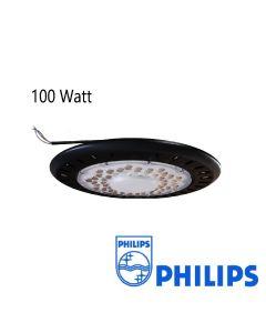 LED Industriestrahler/ Hallentiefstrahler UFO Philips SMD 100Watt IP65 blendfreie Linse