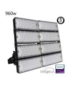 LED Flutlicht/Stadionbeleuchtung Bridgelux Chip - 960W 240Lm/W - 40º