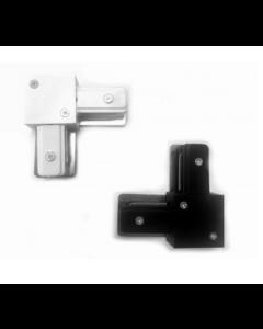 L(L-Form) Anschluss für Schienenbeleuchtung 1 PHASE Schwarz und Weiss