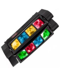 Dubbele Roterende led Discolamp 24W voor evenmenten of shows DMX bestuurbaar